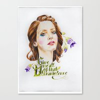 ultraviolence Canvas Prints featuring Ultraviolence by eleidiel