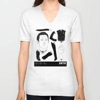 data V-neck T-shirts featuring Decommissioned: Data by Josh Ln