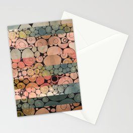 Fragmented Circles Stationery Cards