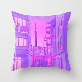 Asakusa Lights Throw Pillow