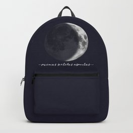 Waxing Crescent Moon on Navy Latin Backpack