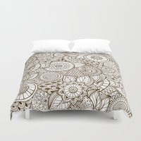 tribal Duvet Covers featuring Tribal by Ale Ibanez