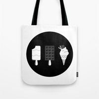 ice cream Tote Bags featuring ice-cream  by Li9z