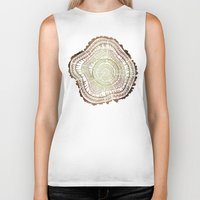 tree rings Biker Tanks featuring Tree Rings – Watercolor Ombre by Cat Coquillette
