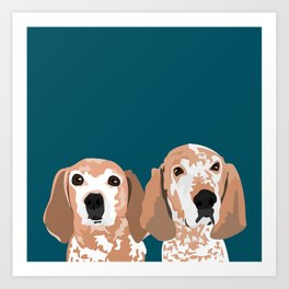 Molly and  Elwood Art Print