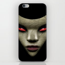 Evil Nun Close Up Portrait Illustration iPhone Skin