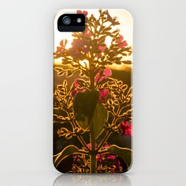 Flower and Sunset iPhone Case