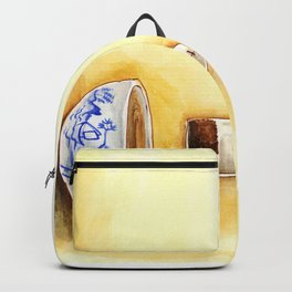 A cup of tea watercolor illustration Backpack