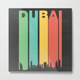 Vintage Dubai Cityscape Metal Print