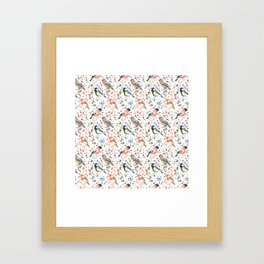 Watercour Painted British Birds Framed Art Print