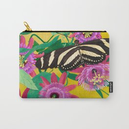 Butterflies on Passion Flowers Carry-All Pouch