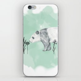 Flower Panda iPhone Skin