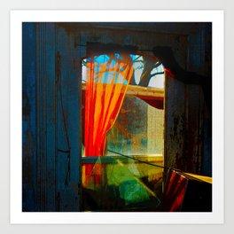 The Orange Curtain Art Print