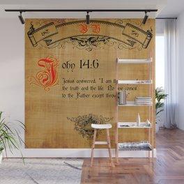 Bible Verse John 14:6 Wall Mural
