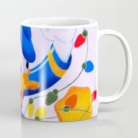 donald duck Mugs featuring Donald Duck Holidays by Brian David