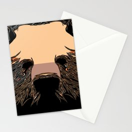 Iconic Grizzly Portrait Stationery Cards