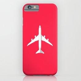 747-8 Jumbo Jet Airliner Aircraft - Crimson iPhone Case