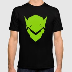 Green Ninja MEDIUM Black Mens Fitted Tee