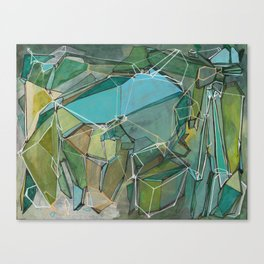 Fracturing Emeralds Canvas Print