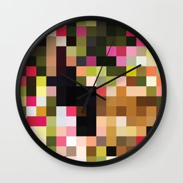 Major Pixel Key Wall Clock
