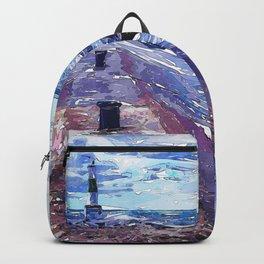 Lake Michigan Waves Backpack