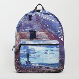 Lake Michigan Waves Backpack