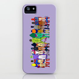 Superhero Butts - Power Couple on Violet iPhone Case