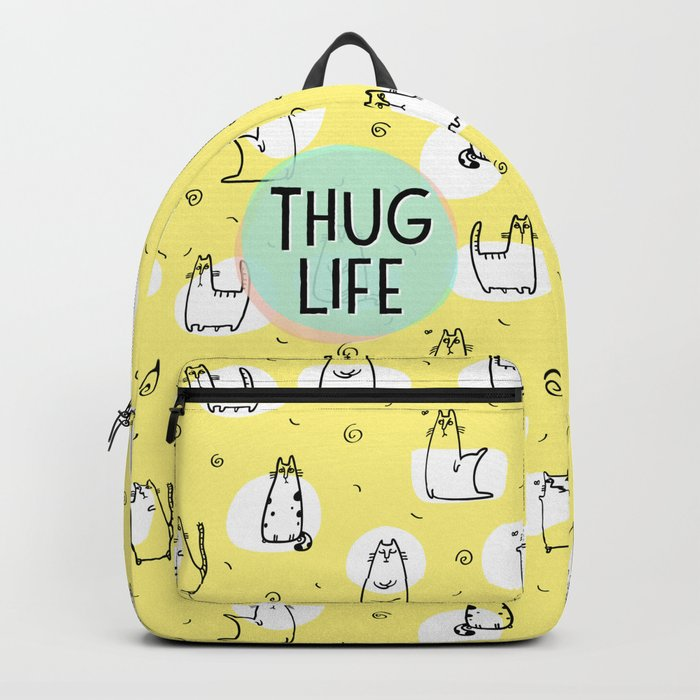 Cat Thug Life - funny cat illustration Backpack by darkmaskedcats ... 4201ce824d9fa