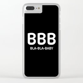 "Black typography pattern ""Bla Bla Baby"" Clear iPhone Case"