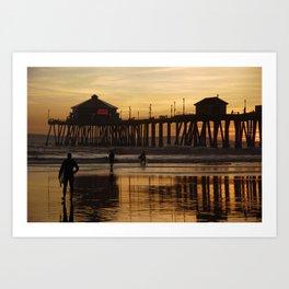 Sunset After Surfing Art Print