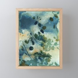 Abstract Shadows Cyanotype Framed Mini Art Print