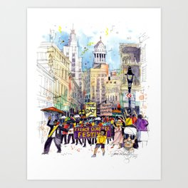 Second Line Parade, New Orleans Art Print