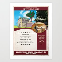 Back to the Future - Hilldale Real Estate Art Print