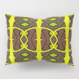 Vintage African Ovals Fabric Geometry Pillow Sham