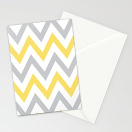 Gray & Yellow Chevron Stationery Cards