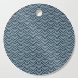 Blue Indigo Denim Waves Cutting Board