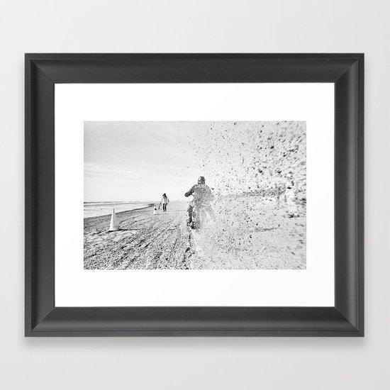 The Race of Gentlemen bw 12 Framed Art Print