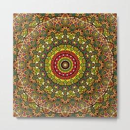 Persian kaleidoscopic Mandala G510 Metal Print