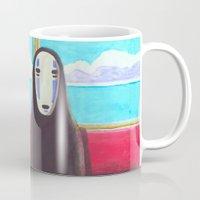 spirited away Mugs featuring Spirited Away by Janice Wong
