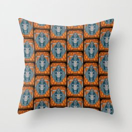 cyberman stained glass Throw Pillow