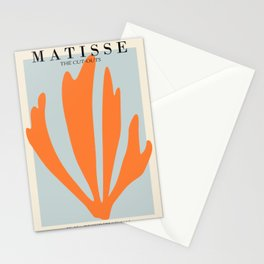 Henri matisse the cut outs blue and orange contemporary, modern minimal art Stationery Cards