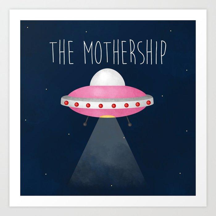 the mothership art print by avenger society6