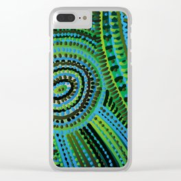 turquoise circus Clear iPhone Case