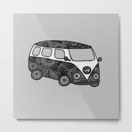 Grey bus Metal Print
