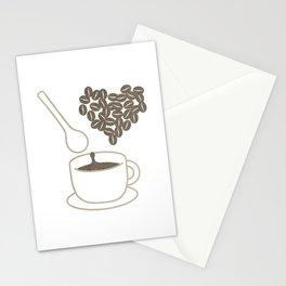 I love coffee Stationery Cards