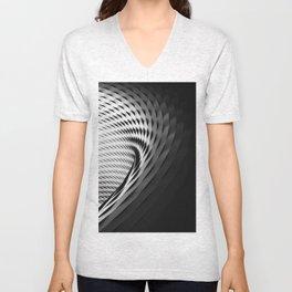 architecture black white Unisex V-Neck
