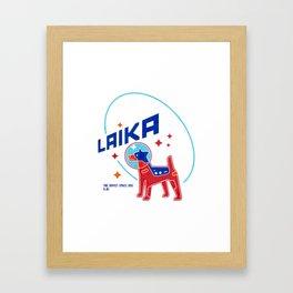laika space dog Framed Art Print