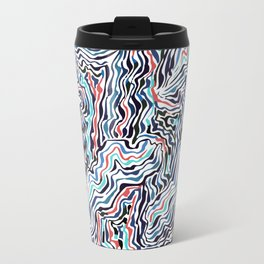 black topography Travel Mug