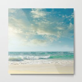 beach love tropical island paradise Metal Print