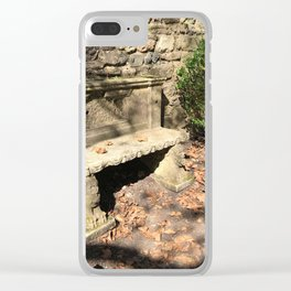 Concrete Bench Clear iPhone Case